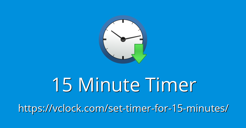 15 Minute Timer - Online Timer - Countdown