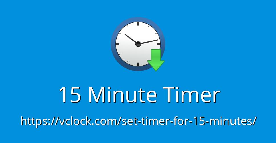 15 minute timer - online timer