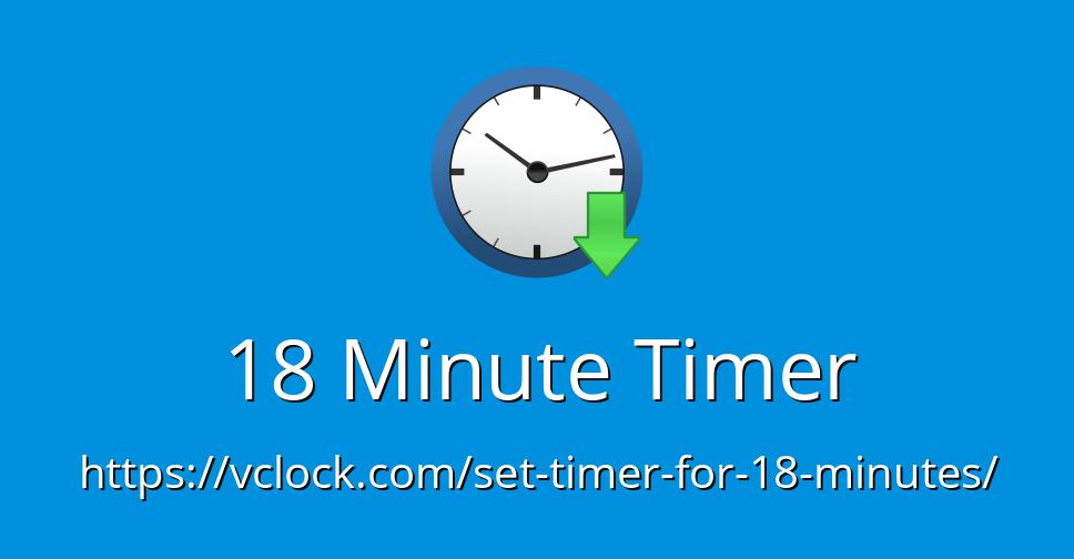 18 minute timer - online timer