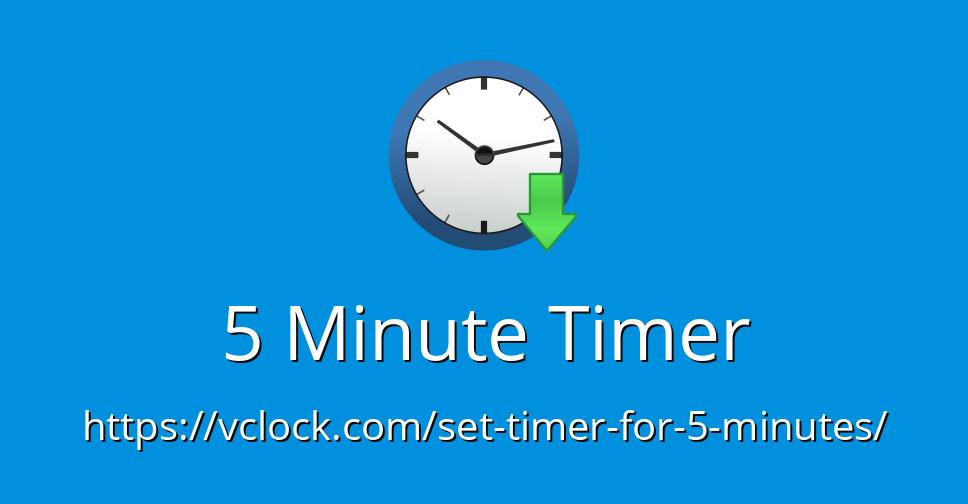 5 minute timer - online timer