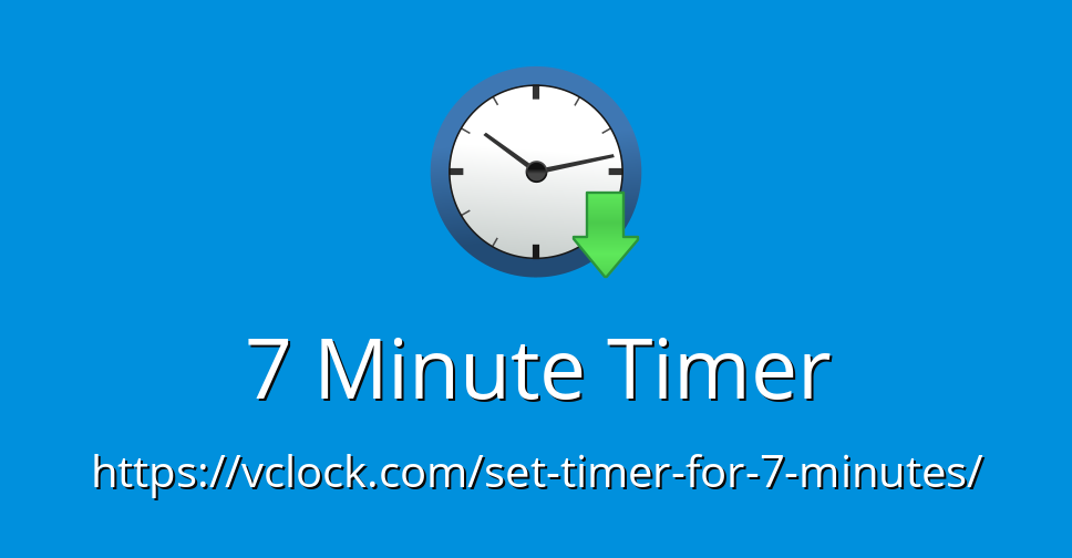 7 Minute Timer - Online Timer - Countdown