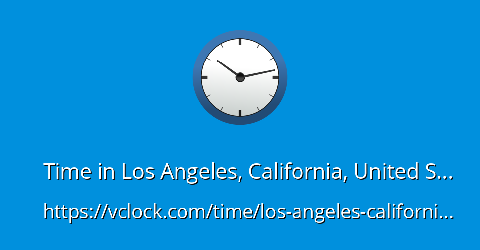 time in los angeles california usa