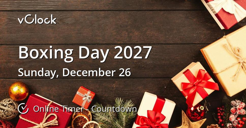 Boxing Day 2027