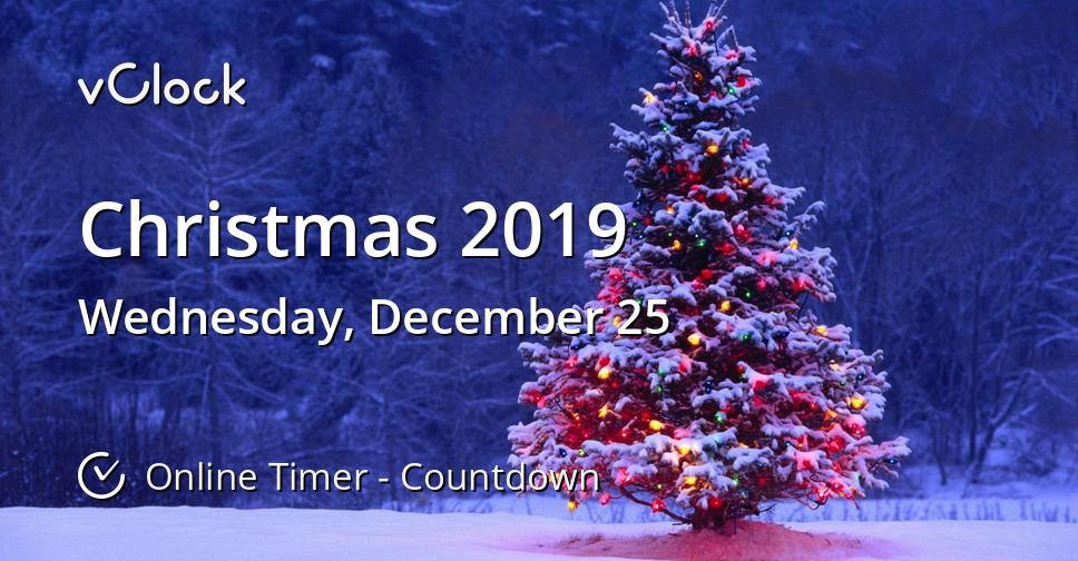 How Many Days Till Christmas 2019.When Is Christmas 2019 Countdown Timer Online Vclock