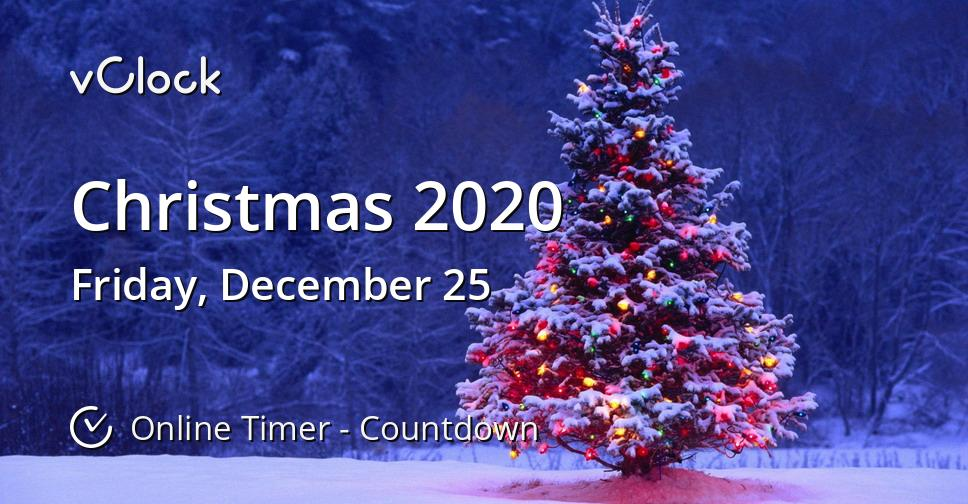 Christmas 2020 Clock Countdown When is Christmas 2020   Countdown Timer Online   vClock