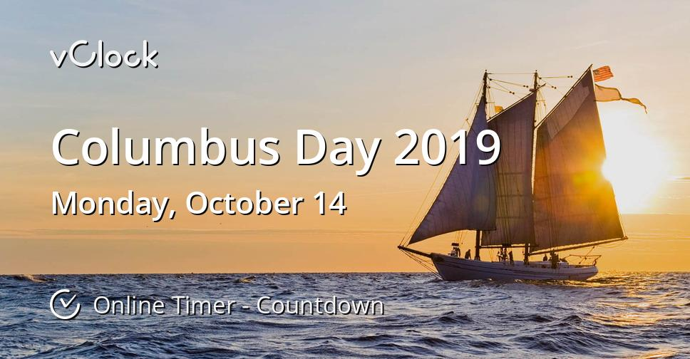 when is columbus day 2019 - online timer