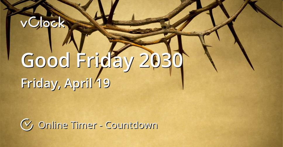 Good Friday 2030
