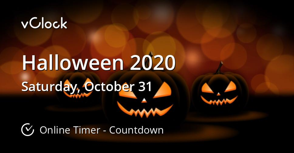 Halloween October 2020 When is Halloween 2020   Countdown Timer Online   vClock