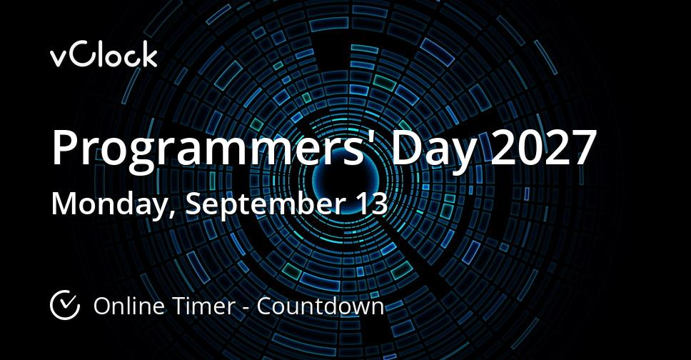 Programmers' Day 2027