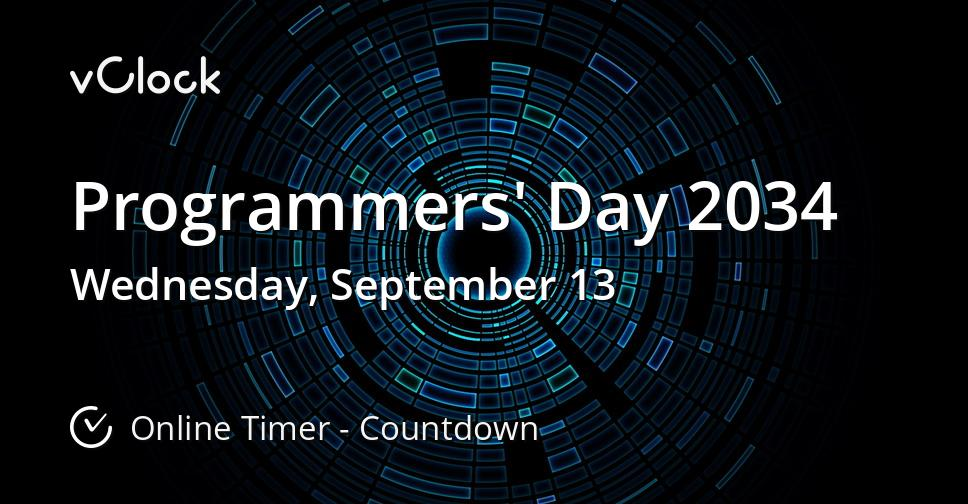 Programmers' Day 2034
