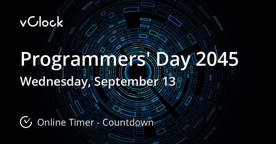Programmers' Day 2045