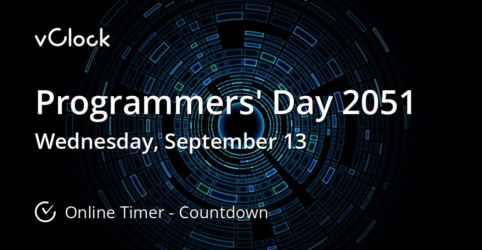 Programmers' Day 2051