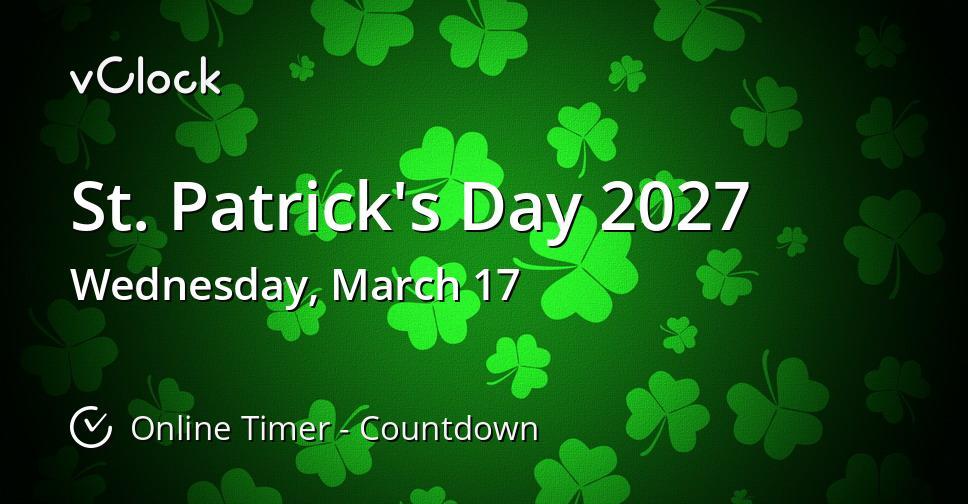 St. Patrick's Day 2027