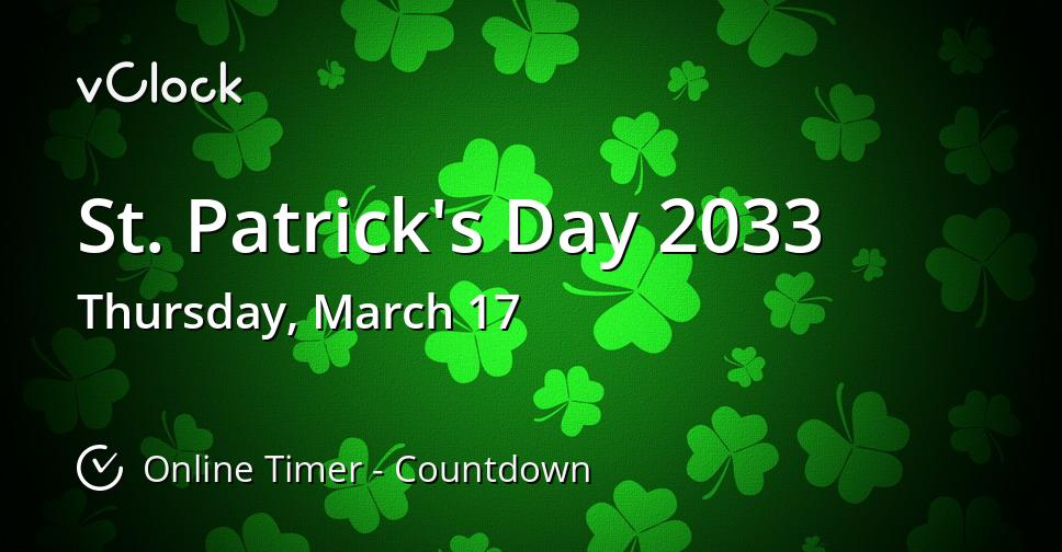 St. Patrick's Day 2033