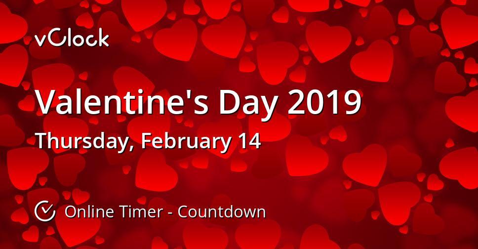 When Is Valentine S Day 2019 Online Timer Vclock
